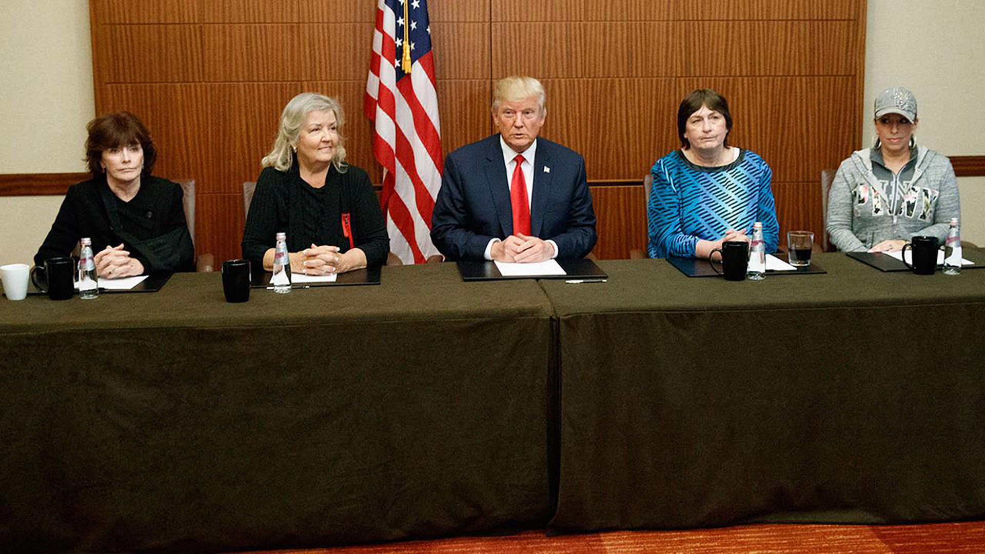 The Women of TRUMP's Tabloid Assault from left to right: Kathleen Willey, Juanita Broaddrick, Kathy Shelton, and Paula Jones